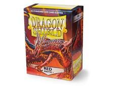 Dragon Shield Red Matte 100 Standard Card Sleeves Magic Dragon Ball Pokemon