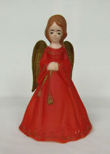 "Vtg 1930s 40s Celluloid Angel Christmas Tree Topper Or Display Piece 7"" Tall"
