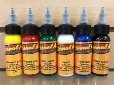 Eternal Tattoo Ink 6 Color 1 Ounce Professional Starter Set 100% Authentic HOT
