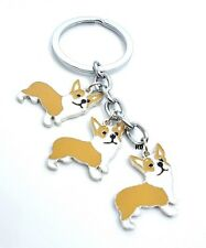 Corgi Lovers Key Chain or Purse Charm 3 lovely Corgi Dogs ( Clearance )