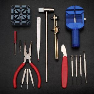 16 pcs Watch Repair Tool Kit Band Strap Link Remover Back Opener Screwdriver UK!