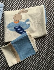 Dunelm Cot Bed rabbit duvet cover and pillow case