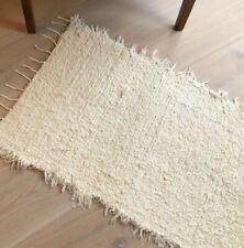 HANDWOVEN Chunky Rug SMALL;  Cotton Handmade Mat; Up cycling; ethical living; Al