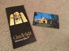"Las Vegas ""Candlelight Chapel"" Post Card Plus Chapel Info Pamphlet"