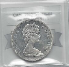**1965 T-1 SB Ptd 5**Coin Mart Graded, Canadian, Silver Dollar, **MS-64**