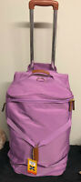 """Bric's X- Holdall Travel Rolling Duffel Violet 26""""x16""""x12""""Brown Detail New Other"""