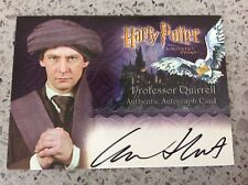 Harry Potter Sorcerers Stone ARTBOX Autograph Card IAN HART/PROFESSOR QUIRRELL