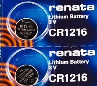CR 1216 RENATA WATCH BATTERY (2 piece) ECR1216 FREE SHIPPING Authorized Seller