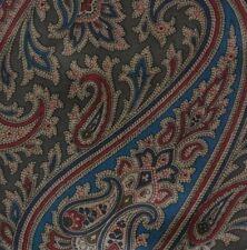 Brown Blue Red Paisley Silk SAMBROOK WITTING Ascot Cravat ENGLAND