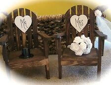 Rustic Wedding Adirondack Chairs Cake Topper