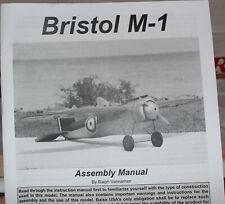 "RC Balsa Kit Airplane  - Balsa USA - Bristol M-1  - Wing 60"""