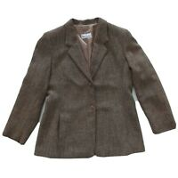 Anthea Crawford Vintage Size 16 Brown Blazer Jacket With Pockets Women's