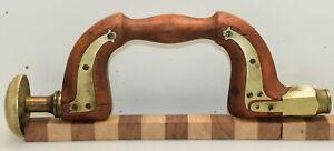 Vintage Tillotson (Sheffield) Brass Plated Wood Bit Brace (INV K937)