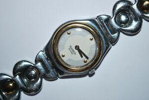 Swatch Watch Irony YSS111G TWIRLING 1999 Swiss Ladies Quartz Stainless Steel