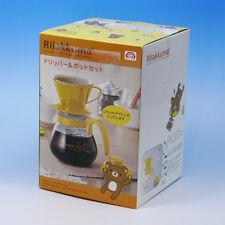 Rilakkuma Coffee Dripper & Heat-resistant glass Pot set  Yellow Rare