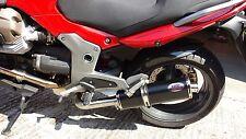 Moto Guzzi V1100 Breva Black oval ROAD LEGAL MTC Exhaust