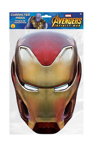 Iron Man Marvel Infinity War Mask Single 2D Card Party Face Mask