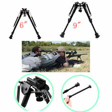 Hunting Rifle Bipod 6to9In Adjustable Spring Return Sniper Sling Swivel Mount KL
