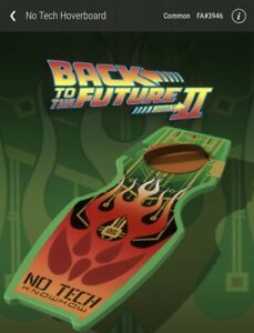 Veve NFT Back To The Future Part 2 - No Tech Hoverboard NFT #3946
