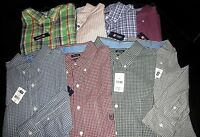 "NWT $50 Mens CHAPS Casual ""Easy Care"" Long Sleeve Shirt:  M XL XXL Plaid Stripe"