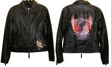 Harley Davidson Distinction Leather Jacket Painted Eagle 97104-06VW NWOT MEDIUM