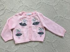 Bonnie Jean Girl Cardigan Cat Ballerina Pink Size 3/4 T