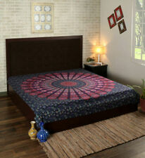 Mandala Peacock Multi Print Tapestry Wall Hanging Decor Queen Size Bedspread