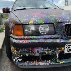 BMW E36 Hella Sticker Cover Headlights / 2pcs