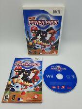 MLB Power Pros (Nintendo Wii, 2007) Wii U Baseball 2K Sports Complete Tested