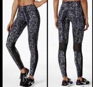 Nike Sidewinder Epic Lux Tight Women Running Crop Sz L Black, Gray, White 719848