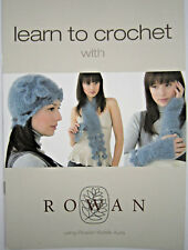 Rowan KIDSILK AURA CROCHET pattern booklet. HAT. SCARF. GAUNTLET. ADULT ONE SIZE