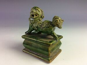Vintage Chinese porcelain stamp with lion figure