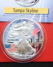 "Amerika: 1 Uz. ""Silver Eagle"" coloriert 2016, ""Coin Show 2016-Tampa"" #F 2022"