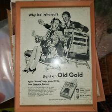 Vintage Print Ad in frames: US Army - Budweiser - Old Gold Cigarettes