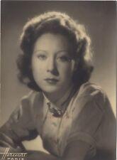 Portrait d'une belle femme par Harcourt Paris Vintage Argentique ca 1935