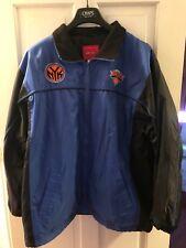New York Knicks Reebok Basketball Jacket Size Large, Fleece Lined