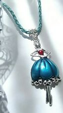 DANCING BALLERINA BALLET PENDANT 50 MM NECKLACE 18 INCH BLUE 5 TO 7 Y GIFT BOXED
