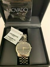 Movado 0606878 Museum Classic Black Dial Stainless Steel 40mm Men's Watch