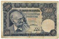 500 pesetas 1951 M. Benlliure SIN SERIE @@ Bonito Ejemplar @@