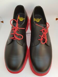 Dr. Doc Martens Men's Classic 1461 Shoes Rare Limited Edition Red Soles US 12