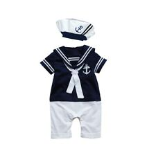 Baby Boy Girl Sailor 1 Pc Romper Suit Grow Summer Marine Outfit  0-24 m Free P+P