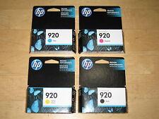 New Genuine Retail HP 920 4 ink cartridge Set Officejet 6000 6500 6500A 7000 OEM