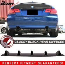 Fits 06-13 3 Series E90 E91 E92 E93 Rear Bumper Lip Diffuser 5 Fin Gloss Black