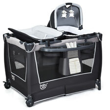 4-IN-1 Convertible Baby Cot Folding Portacot Portable Baby Playpen Crib Bassinet
