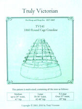 Sewing Pattern for Victorian Civil War round cage crinoline hoop skirt TV141