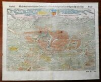 Weissenburg Saxony Holy Roman Empire 1598 Munster Cosmography wood cut city view
