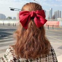Big Bow Hair Clip Satin Hairpin Hair Accessories For Women Hairpins Bowknot B0J4