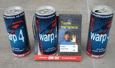 Star Trek WARP4 Space Drink dealer store display Enterprise Spock Scotty Tin Can