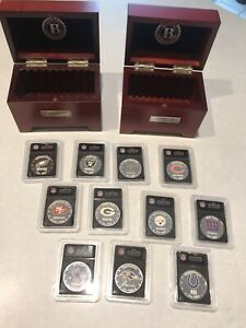 Bradford Exchange Silver NFL Football Coins