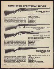 1988 REMINGTON Sportsman 74. 581, 76 & Big Game Spotsman 78 Rifle AD